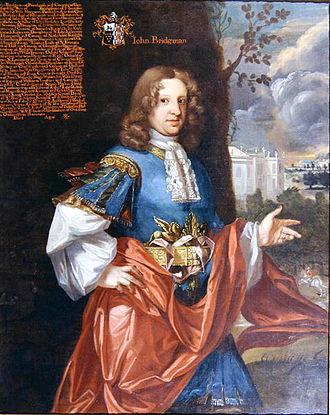 Earl of Bradford - John Bridgeman, 2nd Baronet, by Johann Closterman