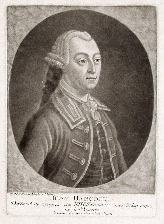 From commons.wikimedia.org: John Hancock c 1776 {MID-189457}
