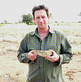 John Long with Gogo fish in the field 2005.jpg