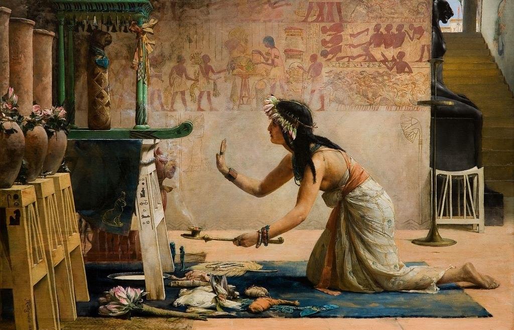 John Reinhard Weguelin – The Obsequies of an Egyptian Cat (1886)