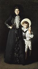 Portrait of Mrs. Edward L. Davis and Her Son, Livingston Davis