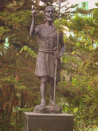 St. John's Diocesan Girls' Higher Secondary School - Statue of St.John-the Baptist at School Campus