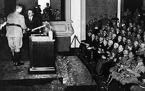 Hanns Johst - Johst receives a literary prize from Alfred Rosenberg