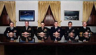 Joint Chiefs of Staff - The Joint Chiefs of Staff at the Pentagon in December 2001.