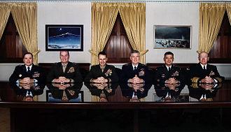 Joint Chiefs of Staff - The Joint Chiefs of Staff at the Pentagon in December 2001.