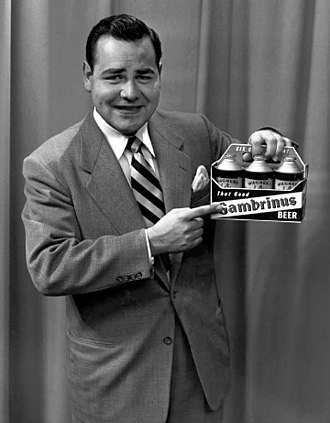 WBNS-TV - Comedian Jonathan Winters, then known as Johnny Winters, promoting Gambrinus Beer in the early 1950s for August Wagner Breweries, Inc. on WBNS-TV in Columbus, Ohio.