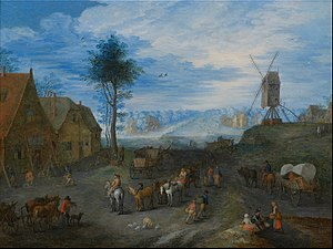 Joseph van Bredael - Image: Joseph van Bredael Village animated with people