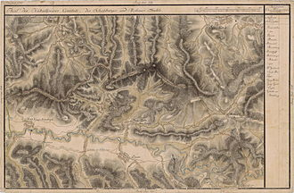 Nadeș - Josephinische Landaufnahme - 18th Century map