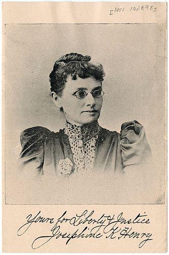 Josephine Henry - Image: Josepine K Henry 1898
