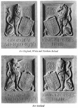King George's Fields - Common entrance plaques for King George's Fields