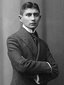 6d80a9c5a2c044 Black-and-white photograph of Kafka as a young man with dark hair in