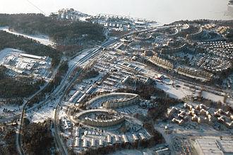 Kallhäll - Aerial view of Kallhäll 2007.