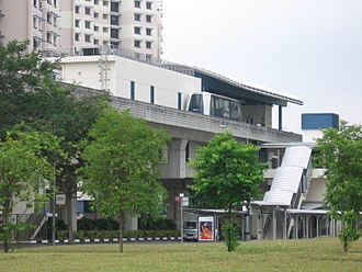 Rivervale, Singapore - Image: Kangkar LRT Station, Oct 06