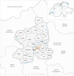 Karte Gemeinde Habsburg 2013