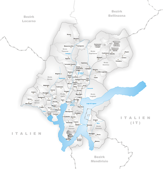 Vico Morcote - Image: Karte Gemeinde Vico Morcote