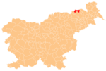 The location of the Municipality of Šentilj