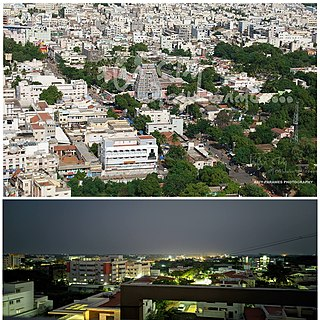 Karur City in Tamil Nadu, India