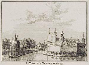 Huis Bergh - Image: Kasteel bergh 1743