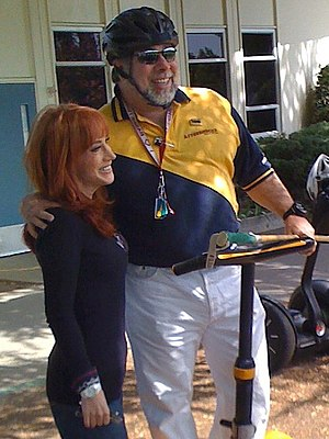 Segway polo - Wozniak with then-girlfriend Kathy Griffin at an April 2008 Segway Polo match