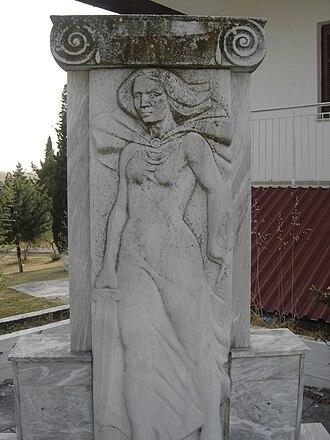 Kato Agios Ioannis - A sculpture in Kato Agios Ioannis