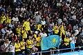 Kazakhstan cheering at boxing 2018 YOG 01.jpg