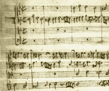manuscrit : début de l'art de la fugue