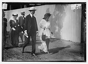 Foxhall P. Keene - Keene on June 13, 1914 at the Meadowbrook Polo Club for the International Polo Cup