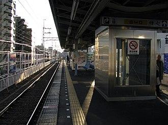 Shim-Mikawashima Station - Image: Keisei Shinmikawashima sta 003