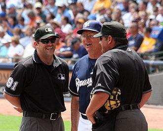 Pittsburgh Panthers baseball - Manager Ken Macha (center) played college baseball at Pitt