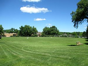 Rockwell Field (Kent State) - Site of Rockwell Field in 2014, now known as the Commons
