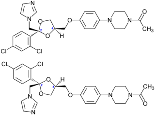Ketoconazole enantiomers structural formulas.png