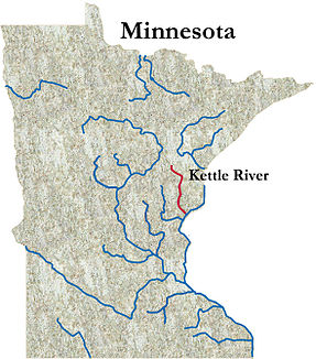 Karte des Kettle Rivers