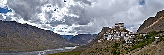 Spiti Valley - Key Gompa, a Vajrayana Buddhist monastery in Spiti Valley, Himachal Pradesh.