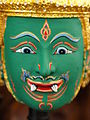 Khon Mask Green God.JPG