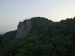 The Khrestova peak of the Crimean Mountains located in Oreanda.