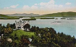 Kimball Castle and Lake Winnipesaukee c. 1920