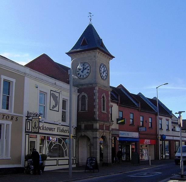 The clock tower in Kingswood