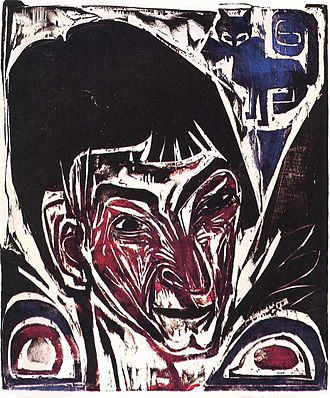 Printmaking - Ernst Ludwig Kirchner, Portrait of Otto Müller, 1915