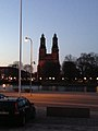 Kloster kyrka by night (8774438609).jpg