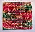 Knitting waffle stitch (cropped).jpg