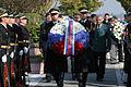 Komemoracija ob spomeniku padlim v vojni za Slovenijo 1991 na ljubljanskih Žalah 2014 05.jpg