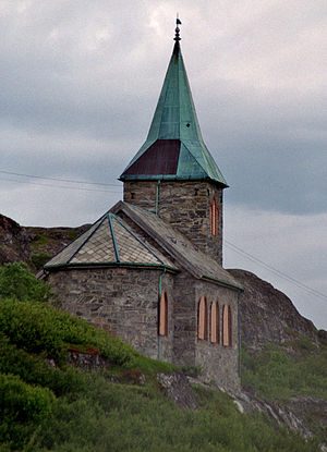 Sør-Varanger - View of King Oscar II Chapel on the Russian border