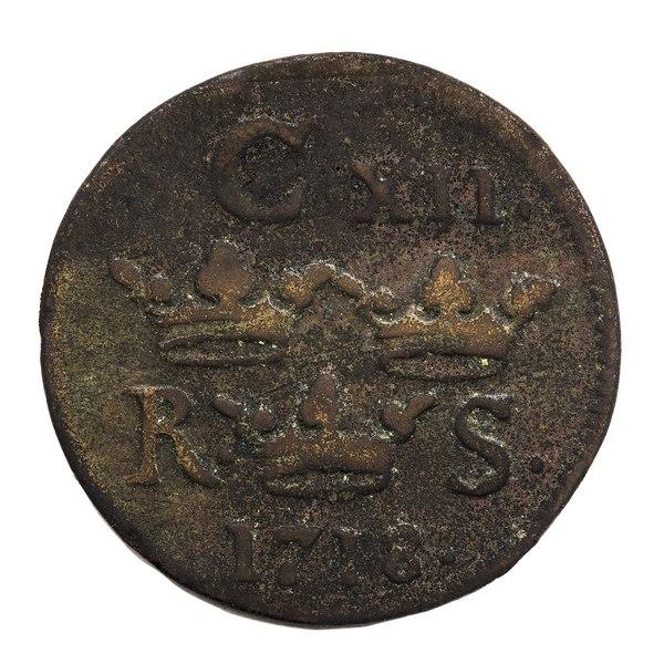 File:Kopparmynt från 1718 - Skoklosters slott - 109264.tif