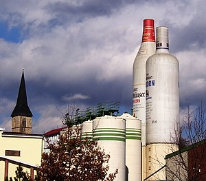 Korn (liquor) - The Nordhäuser Korn distillery in Nordhausen, Germany.