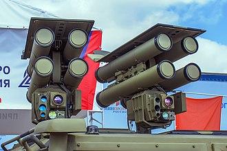 9M133 Kornet - Kornet-EM missiles on a Kornet-D launcher.