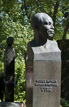 Kotane s grave at novodevichy cemetery in moscow