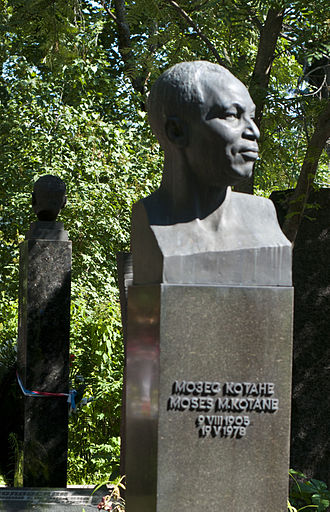 Moses Kotane - Kotane's Grave at Novodevichy cemetery in Moscow.