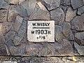 Kraków - ul. Zabłocie 13 - dawna rzezalnia miejska - tabliczka Wylew Wisły 1903 (01) - DSC06307 v1.jpg