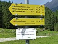 Krimmler Tauernhaus Wegweiser Rainbachtal.jpg