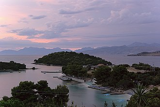 Vlorë County - The four island of Ksamil in the south.